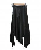 LE CIEL BLEU(ルシェルブルー)の古着「カラーサテンラッフルスカート」
