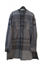 Engineered Garments(エンジニアードガーメンツ)の古着「BANDED COLLAR LONG SHIRT-BIG P」|グレー