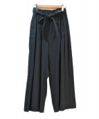 GRANDMA MAMA DAUGHTER(グランマママドーター)の古着「リボン付2タックワイドパンツ」