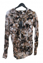 TORNADO MART(トルネードマート)の古着「フルフラワープリントクラッシュプリーツシャツ」