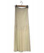 JANE SMITH(ジェーンスミス)の古着「シャーリングスカート」|ベージュ
