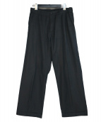 AURALEE(オーラリー)の古着「フィンクスシャンブレーワイドパンツ」|ブラック