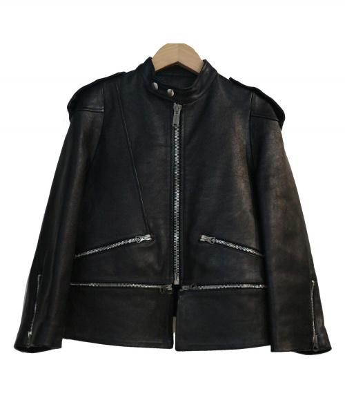 GOLDEN GOOSE(ゴールデングース)GOLDEN GOOSE (ゴールデングース) レザージャケット ブラック サイズ:XS 参考定価185.000円+税の古着・服飾アイテム