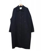CINOH(チノ)の古着「2WAYバルカラーコート」 ネイビー