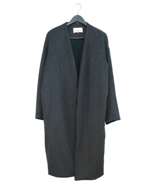 ENFOLD(エンフォルド)ENFOLD (エンフォルド) トップリバーノーカラーコート グレー サイズ:38 定価53.000円+税 3009A130-1000の古着・服飾アイテム