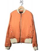 rag&bone(ラグアンドボーン)の古着「ボンバージャケット」|オレンジ