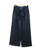 AKANE UTSUNOMIYA(アカネウツノミヤ)の古着「デニムワイドパンツ」|インディゴ