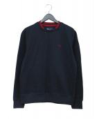FRED PERRY(フレッドペリー)の古着「クルーネックスウェットシャツ」|ネイビー