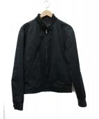 Martin Margiela14(マルタンマルジェラ14)の古着「襟リブ スイングトップ ジャケット」|ブラック