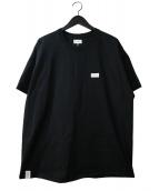 DESCENDANT(ディセンダント)の古着「BOXロゴTシャツ」|ブラック