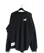 DESCENDANT(ディセンダント)の古着「ロングスリーブカットソー」|ブラック