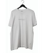 Yohji Yamamoto(ヤマモトヨウジ)の古着「ロゴ刺繍カットソー」|ホワイト