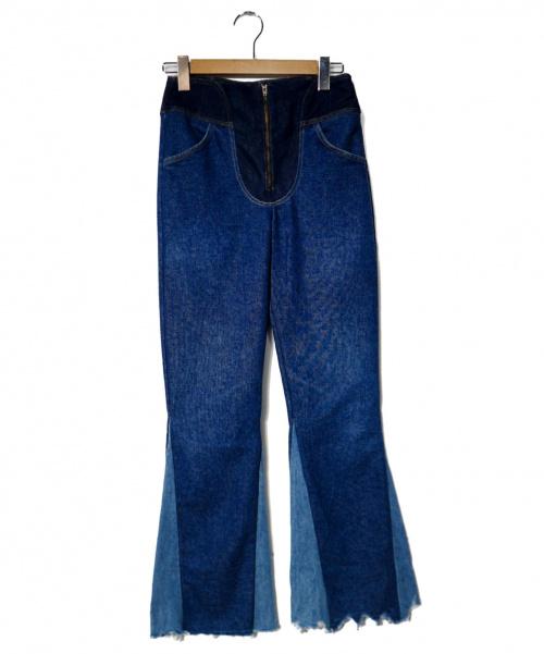 77circa(ナナナナサーカ)77circa (ナナナナサーカ) リメイクデニムパンツ インディゴ サイズ:記載なしの古着・服飾アイテム
