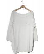DEUXIEME CLASSE(ドゥーズィエムクラス)の古着「ラグランバックプリントTシャツ」|ホワイト