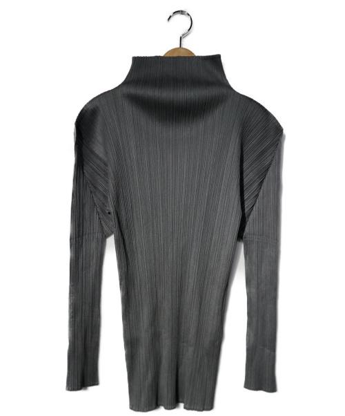 PLEATS PLEASE(プリーツプリーズ)PLEATS PLEASE (プリーツプリーズ) プリーツカットソー グレー サイズ:3の古着・服飾アイテム
