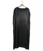 ZUCCA(ズッカ)の古着「レーヨンサテンワンピース」|ブラック