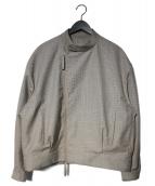 E.TAUTZ(イートウツ)の古着「ジップブルゾン」|グレー