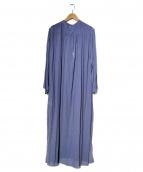 cepie.(セピエ)の古着「メモリーシフォンロングワンピース」|ブルー