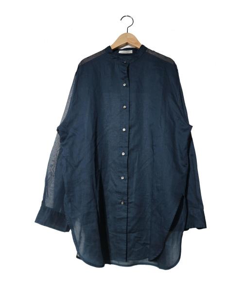 Plage(プラージュ)Plage (プラージュ) オーガンジーチュニックシャツ ネイビー サイズ:記載無し 19SS 定価¥19.000+税の古着・服飾アイテム