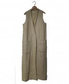 R'IAM(リアム)の古着「麻キャンバスベスト」|ベージュ