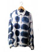 CHLOE STORA(クロエストラ)の古着「レーヨンシャツ」|ネイビー