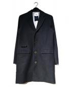 FACTOTUM(ファクトタム)の古着「ジャガードデニムチェスターコート」 ネイビー