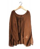 TODAYFUL(トゥデイフル)の古着「コットンシルクオーガンジーブラウス」|ブラウン