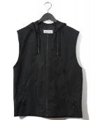 Martin Margiela 10(マルタンマルジェラ 10)の古着「八の字フーデッドベスト」|ブラック