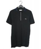 LACOSTE(ラコステ)の古着「ハーフジップポロシャツ」|ブラック