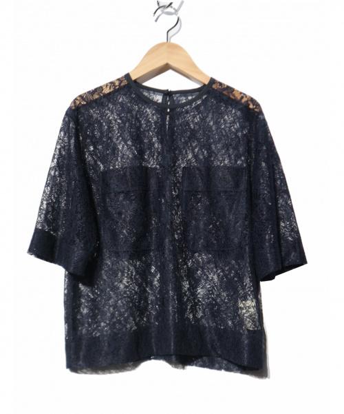 Shinzone(シンゾーン)Shinzone (シンゾーン) レースブラウス ネイビー サイズ:FREE 19SSの古着・服飾アイテム