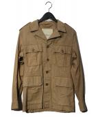 DENIM & SUPPLY RALPH LAUREN(デニムアンドサプライ ラルフローレン)の古着「ミリタリージャケット」|ベージュ