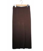 plage(プラージュ)の古着「リブニットスカート」 ブラウン