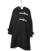 mizuiro-ind(ミズイロインド)の古着「Aラインダッフルコート」|ブラック