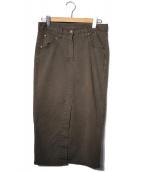 Deuxieme Classe(ドゥーズィエムクラス)の古着「製品染めタイトスカート」 ブラウン