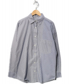 YANUK(ヤヌーク)の古着「オーバーサイズシャツ」|ネイビー