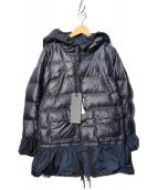 MONCLER S(モンクレール エス)の古着「フリルダウンコート」|ネイビー