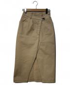 eimy istoire(エイミーイストワール)の古着「チュールレイヤードチノスカート」|ベージュ