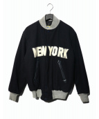 HEWITT(ヒューイット)の古着「中綿スタジャン」|ネイビー×グレー