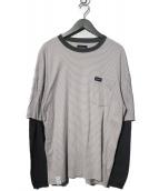 DESCENDANT(ディセンダント)の古着「レイヤードTシャツ」|グレー