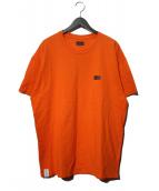 DESCENDANT(ディセンダント)の古着「ボックスロゴTシャツ」|オレンジ