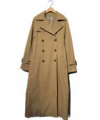 M-premier(エムプルミエ)の古着「スパンライクロングトレンチコート」|ベージュ