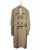 S Max Mara(エス マックスマーラ)の古着「ダブルトレンチコート」|ベージュ