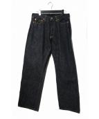 MOMOTARO JEANS(モモタロー ジーンズ)の古着「出陣クラシックストレートデニム」|インディゴ