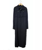Ys(ワイズ)の古着「ジップロングコート」|ネイビー