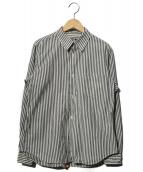 BLACK COMME des GARCONS(ブラックコムデギャルソン)の古着「ストライプシャツ」|ホワイト×グレー