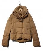YOSOOU(ヨソオウ)の古着「ツーピースカラーダウンジャケット」|ブラウン
