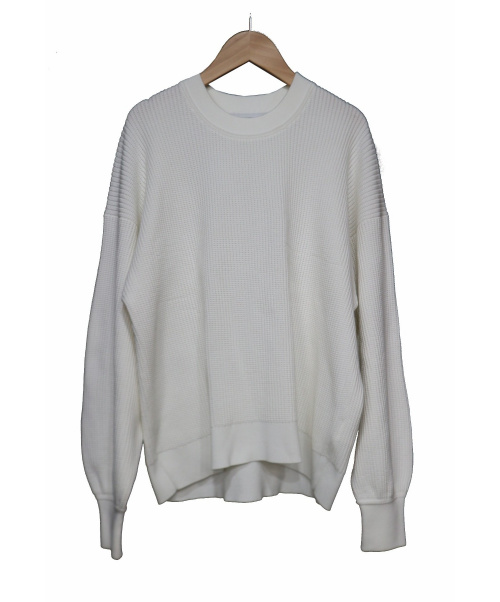 FRAMeWORK(フレームワーク)FRAMeWORK (フレームワーク) コットンWフェイスタック柄プルオーバー ホワイト サイズ:-  の古着・服飾アイテム