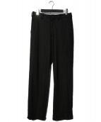 Yohji Yamamoto COSTUME DHOMME(ヨウジヤマモトコスチュームドオム)の古着「ウールワイドパンツ」|ブラック