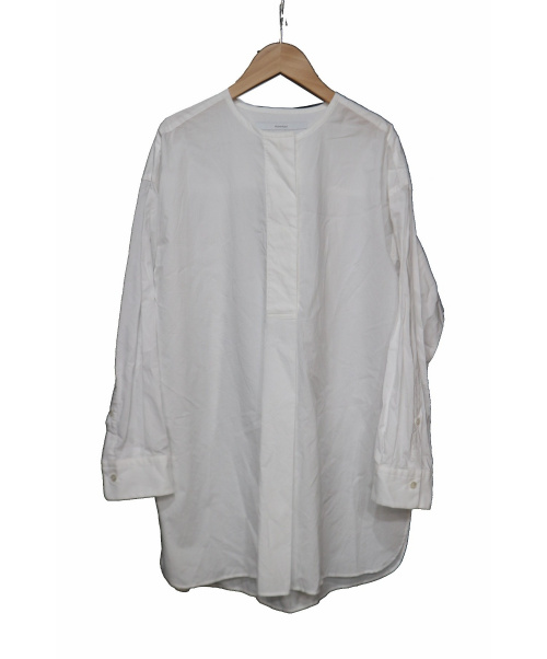 FRAMeWORK(フレームワーク)FRAMeWORK (フレームワーク) ヴィンテージタイプライターチュニック ホワイト サイズ:FREE  19AWの古着・服飾アイテム