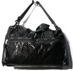 LeSportsac(レスポートサック)の古着「2WAYエンボスボストンバッグ」|ブラック